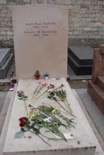 Sartre y Simone en Montparnasse